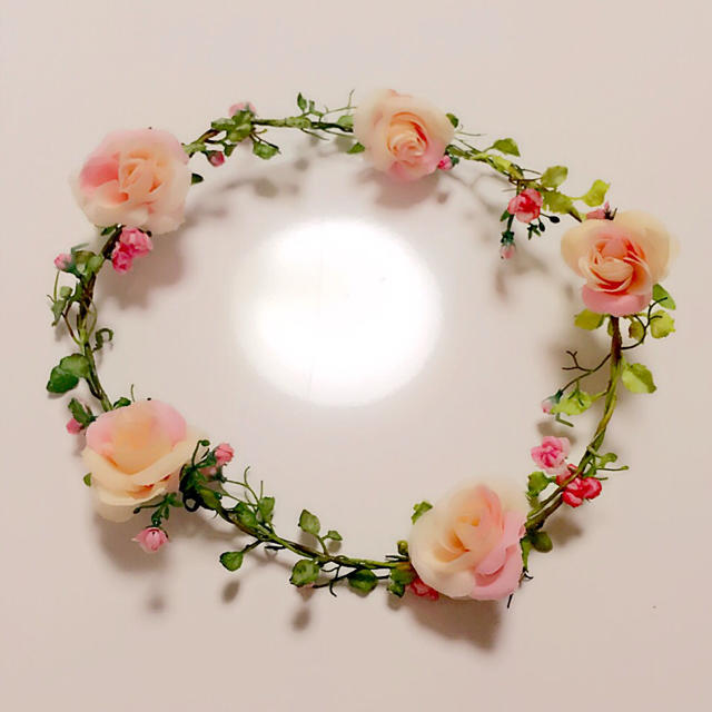 花冠②ピンク系 レディースのヘアアクセサリー(カチューシャ)の商品写真