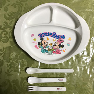 ディズニー(Disney)のPigeonディズニーお皿&スプーン.フォークセット(離乳食器セット)