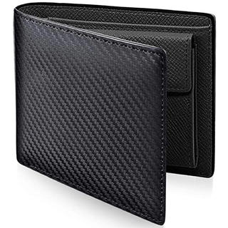 PEYNE   二つ折り財布 本革 メンズ ブラック(折り財布)