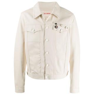 ラフシモンズ(RAF SIMONS)のラフシモンズ 20ss パッチデニムジャケット ホワイト 正規品 新品 (Gジャン/デニムジャケット)