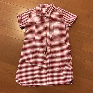 ムジルシリョウヒン(MUJI (無印良品))のシャツワンピース♡無印(ワンピース)