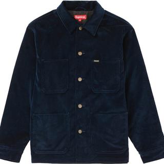 シュプリーム(Supreme)のSupreme Velvet Chore Coat Navy 20SS(カバーオール)
