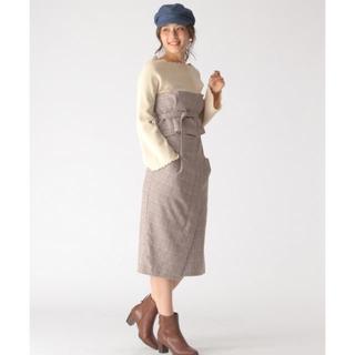 ミスティウーマン(mysty woman)のタイトスカート ブラック ビスチェ付 misty woman(ひざ丈スカート)