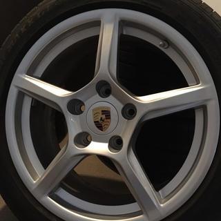 ポルシェ(Porsche)のポルシェ 981 ボクスター 純正ホイールセット カラークレスト TPM(タイヤ・ホイールセット)