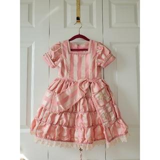 シャーリーテンプル(Shirley Temple)のシャーリーテンプル ドレス 120 ピンクワンピース(ドレス/フォーマル)