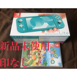 ニンテンドースイッチ(Nintendo Switch)のNintendo Switch Lite 本体 ターコイズ+あつまれどうぶつの森(家庭用ゲーム機本体)