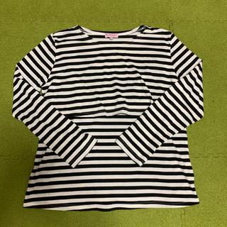 ニシマツヤ(西松屋)の授乳服 ボーダー 長袖(Tシャツ(長袖/七分))