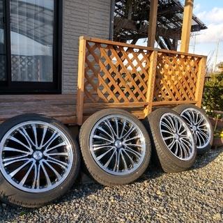 グッドイヤー(Goodyear)の中古アルミホイール付タイヤ4本セット 215/45R18  7.5J☓18(タイヤ・ホイールセット)