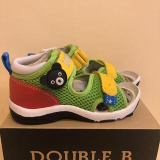 ダブルビー(DOUBLE.B)の美品 ミキハウス ダブルB サンダル 15.5 スニーカー 靴 シューズ 16(サンダル)