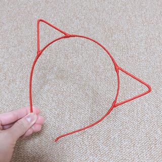 ウィゴー(WEGO)の猫耳 カチューシャ 赤(カチューシャ)