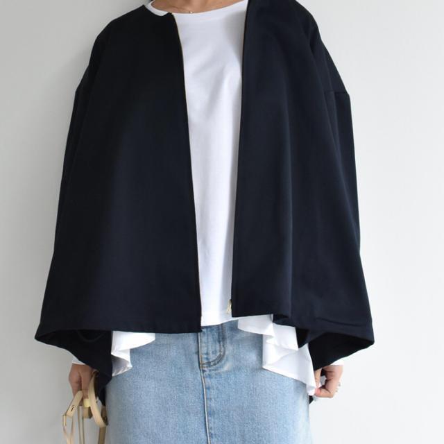 Drawer(ドゥロワー)のmyclozette cen. ノーカラージャケット テントジャケット 新品 レディースのジャケット/アウター(ノーカラージャケット)の商品写真