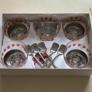 トウヨウササキガラス(東洋佐々木ガラス)の東洋ガラス 5点セット(食器)