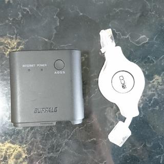 バッファロー(Buffalo)の無線LAN BUFFALO WMR-300&巻き取り式LANケーブル(その他)