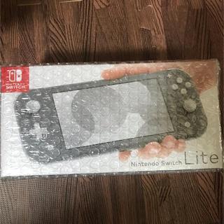 ニンテンドースイッチ(Nintendo Switch)の新品未使用 Nintendo Switch Lite 本体 グレー(携帯用ゲーム機本体)