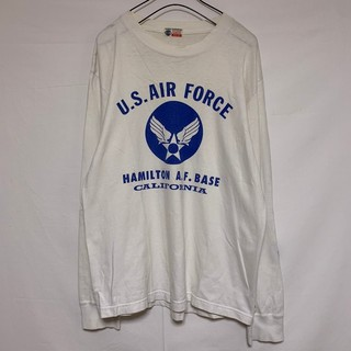 バズリクソンズ(Buzz Rickson's)のバズリクソンズ スポーツ 長袖Tシャツ ロンT  白 ホワイト アメリカ空軍 (Tシャツ/カットソー(七分/長袖))