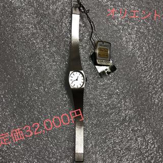 オリエント(ORIENT)のオリエント 女性用 腕時計 シルバー 手巻 日本製 新品 未使用(腕時計)