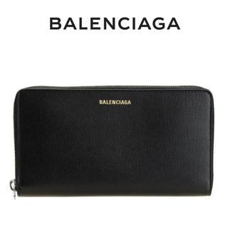 バレンシアガ(Balenciaga)の11 BALENCIAGA ブラック 型押しレザー ジップアラウンド 長財布(長財布)
