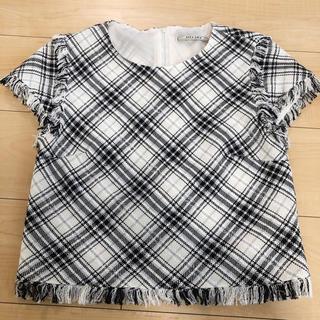 アウラアイラ(AULA AILA)の新品♥AULAAILA♥フリンジチェックブラウス(シャツ/ブラウス(半袖/袖なし))
