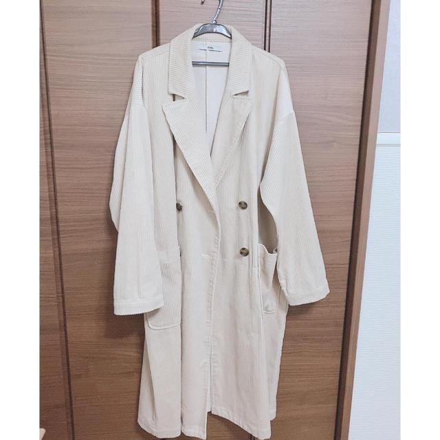 GRL(グレイル)のグレイル コーデュロイダブルコート レディースのジャケット/アウター(ロングコート)の商品写真