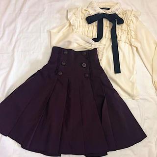 ヴィクトリアンメイデン(Victorian maiden)のinnocent world 編み上げスカート(ひざ丈スカート)