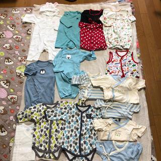 ニシマツヤ(西松屋)のベビー服 ,肌着,ベスト  50〜60サイズ(ロンパース)