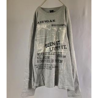 シマムラ(しまむら)のXLサイズ 長袖 Tシャツ 春物 グレー 古着 used 安い (Tシャツ/カットソー(七分/長袖))