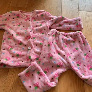 シマムラ(しまむら)のパジャマ 100 女の子 しまむら 女の子 イチゴ ピンク キッズ(パジャマ)