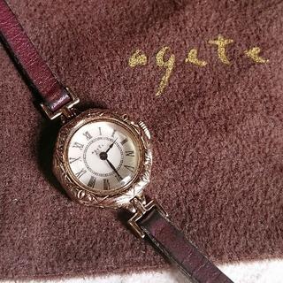 アガット(agete)のagete❇️クラシックデザイン 華奢ウォッチ 稼働品(腕時計)