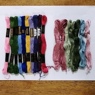 オリンパス(OLYMPUS)の刺繍糸 OLYMPUS ★17本★ あじさい オリムパス 刺しゅう糸(生地/糸)