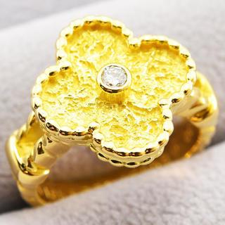 ヴァンクリーフアンドアーペル(Van Cleef & Arpels)のヴァンクリーフ&アーペル リング ヴィンテージアルハンブラ 指輪 ダイヤK18 (リング(指輪))