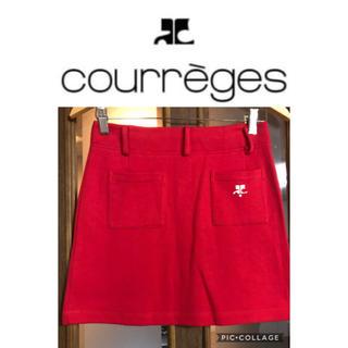 クレージュ(Courreges)のレッド スカート  クレージュ(ミニスカート)