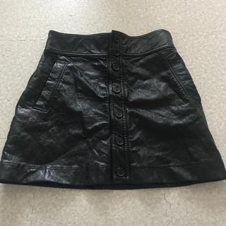 ステューシー(STUSSY)の6/6値下げしました stussy women フェイクレザー ミニスカート(ミニスカート)