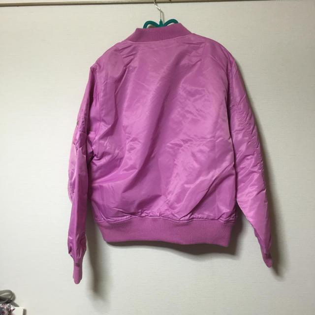新品 MA-1 ピンク レディースのジャケット/アウター(ミリタリージャケット)の商品写真