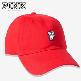 ヴィクトリアズシークレット(Victoria's Secret)のPINK♡ベースボールキャップ♡レッド(キャップ)