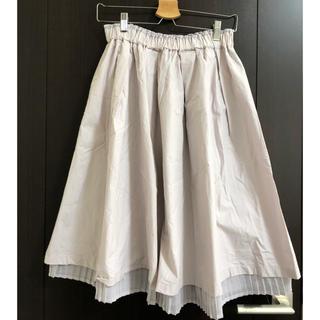 ミスティウーマン(mysty woman)のリバーシブル(フレア・プリーツ)スカート(ひざ丈スカート)