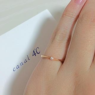 カナルヨンドシー(canal4℃)の【canal 4℃】ダイヤピンキーリング(リング(指輪))