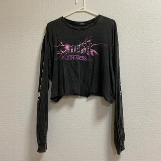 ベルシュカ(Bershka)のBershka  ロゴ袖長Tシャツ(Tシャツ(長袖/七分))