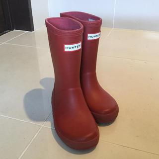 ハンター(HUNTER)のハンター キッズ レインブーツ UK9 15cm(長靴/レインシューズ)