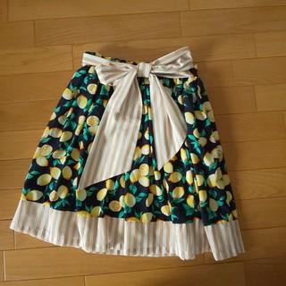 フィント(F i.n.t)の限界価格 F i.n.t レモン柄 スカート フリーサイズ(ミニスカート)