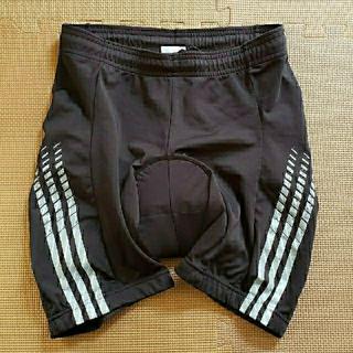 アディダス(adidas)のadidas クッション付 サイクル ショートハーフパンツ メンズXL 黒(ウエア)