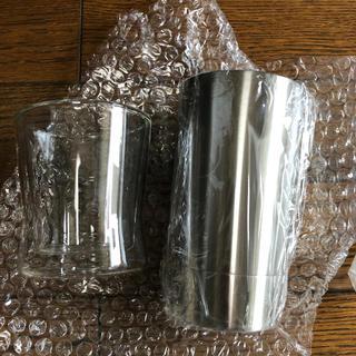 二層構造 ステンレス&グラスセット(グラス/カップ)