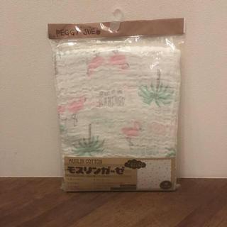 ニシマツヤ(西松屋)のモスリンガーゼ フラミンゴ柄(おくるみ/ブランケット)