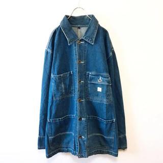 ダナキャランニューヨーク(DKNY)の【90s】DKNY ビッグシルエット カバーオール デニムジャケット ブルー S(カバーオール)