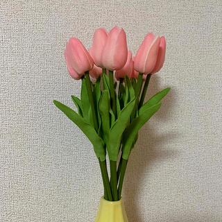 チューリップ 造花 ブーケ インテリア ピンク(ブーケ)