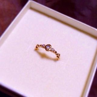 アガット(agete)のオパールとダイヤのピンキーリング(リング(指輪))