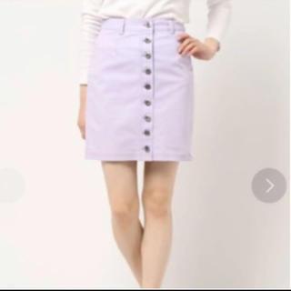 ケイトスペードニューヨーク(kate spade new york)のケイトスペード パープル スカート 0(ひざ丈スカート)
