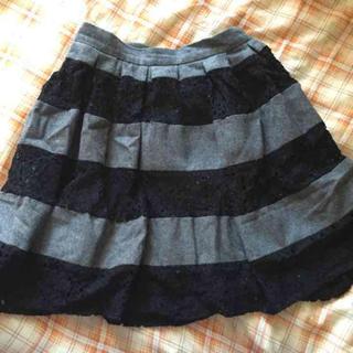 マーキュリーデュオ(MERCURYDUO)のマーキュリーデュオボーダースカート(ミニスカート)