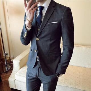 メンズスーツ スリムスーツ 紳士服 ビジネススーツ スーツ お洒落 ジャケット(スラックス/スーツパンツ)