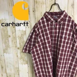 カーハート(carhartt)のカーハート 刺繍ロゴ ロゴタグ ビッグシルエット チェック BDシャツ 2XL(シャツ)