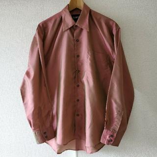 ジョンローレンスサリバン(JOHN LAWRENCE SULLIVAN)のヴィンテージ ドレスシャツ 玉虫織り ピンク グリーン(シャツ)